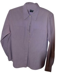 Liz Claiborne Petite Button Down Classic Top purple