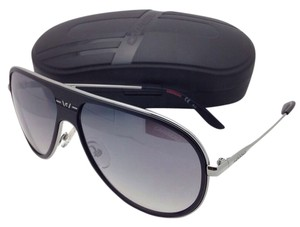 Carrera New Sunglasses CARRERA 87/S ZA1IC 62-13 Silver & Black Aviator Frame w/ Grey Lenses