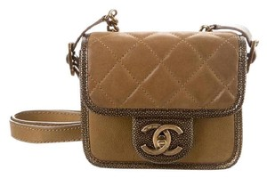 Chanel Mini Classic Flap Cc Lock Back To School Paris-bombay Cross Body Bag