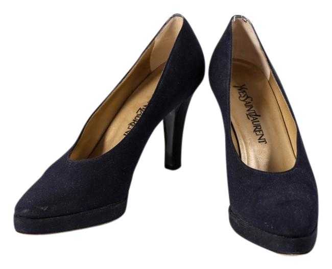 Item - Blue Women's Navy Fabric Classic Pumps Size US 7 Regular (M, B)