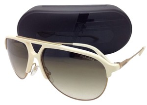Carrera New Sunglasses CARRERA 83 0SDDB 61-12 White & Gold Aviator Frame w/Brown Gradient Lenses