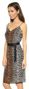 Elizabeth and James Alix Silk Animal Print Belted Dress