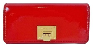 Michael Kors Astrid Patent Leather Red Clutch