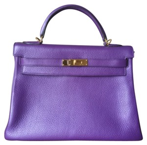 Hermès Kelly Retourne 32cm Ultraviolet 32 Shoulder Bag