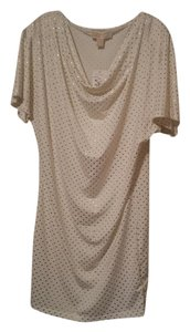 Michael Kors short dress white with gold studs on Tradesy