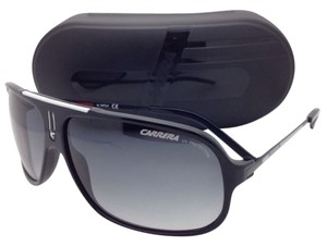 Carrera New Sunglasses CARRERA COOL/S F83 7V Black Aviator Frame w/Gray Lenses