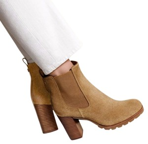 Tory Burch Boot Bootie Leather Suede Hazel tan camel Boots