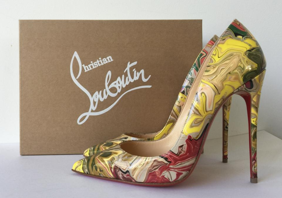 bc27baf6d524 Christian Louboutin Nude So Kate 120 Marble Apt Multicolor Patent Leather  Pumps