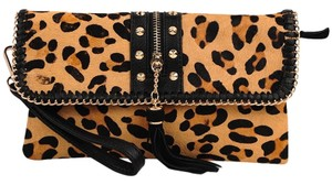 Sondra Roberts Animal Print Calf Evening Leopard Clutch