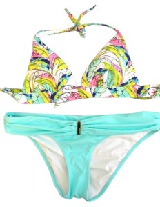 Victoria's Secret NEW Victoria's Secret floral swimwear Push Up bikini top + bottom M