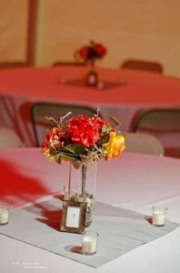 Gold Small Frames For Table Numbers (Or Centerpiece