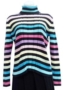 Liz Claiborne Striped 90s Vintage Goth Soft Grunge Sweater