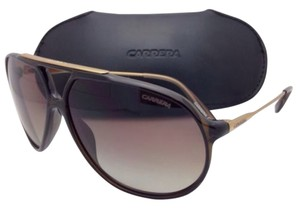Carrera New POLARIZED Sunglasses CARRERA 82 0KXLA Transparent Brown Frame w/Brown Gradient Lenses