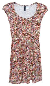 Divided by H&M short dress Floral (Red/Orange, Pink, Yellow, White, Black) Flowers on Tradesy