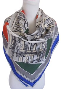 Givenchy Wow! Beautiful Painted Couture Stores Silk Scarf - 34