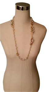 Chanel Chanel 12V Ivory Pearl Cluster Necklace Gold Tone 32.5