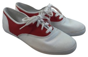 Keds Red & White Sneakers Tennis Taylor Swift Size 8 Unique Fun red/white Athletic