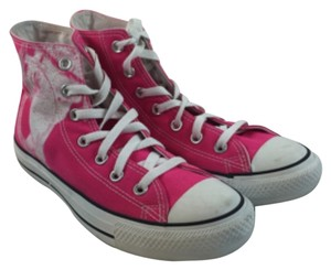 Converse Hi Tops Chuck Taylor Pink Size 8 One Of A Kind San Francisco Personal Design hot pink Athletic