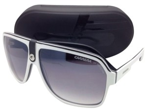 Carrera New Sunglasses CARRERA 33/S NN7IC 62-11 White Black Gray Frame w/ Gray Gradient Lenses