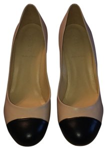 J.Crew Tan, Black, and Gold lining on toe cap Pumps