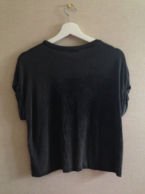 Brandy Melville Washed Out Graphic T Shirt Black
