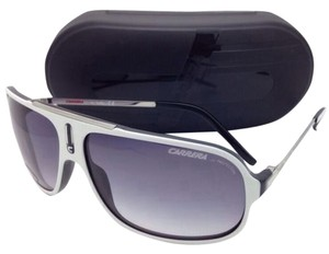 Carrera New Sunglasses CARRERA COOL/S YCF LF 65-12 White & Black Frame w/ Gray Gradient Lenses