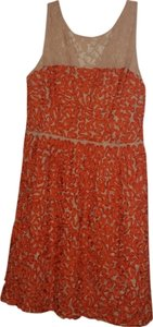Trina Turk short dress Orange and cream on Tradesy