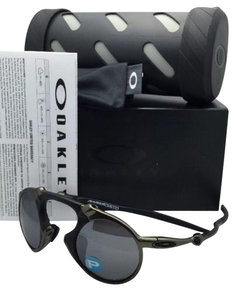 ce41e9691b Oakley Polarized OAKLEY Sunglasses MADMAN OO6019-02 60-21 Pewter Frame w   Black ...