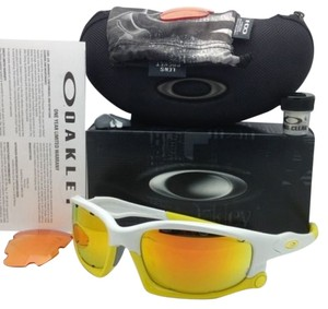 Oakley New OAKLEY Sunglasses SPLIT JACKET VENTED OO9099-12 White & Yellow Frame w/2 Sets of Lenses
