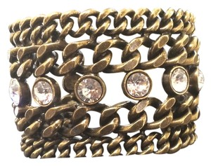 Avant Garde Paris Large Chain and Diamond Cuff