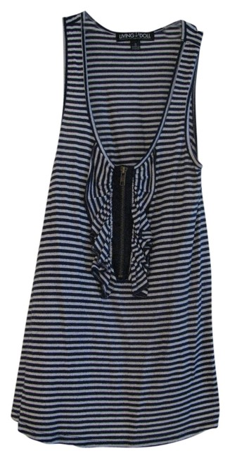 Preload https://item1.tradesy.com/images/living-doll-white-and-navy-blue-striped-ruffled-shirt-tank-topcami-size-6-s-1249315-0-0.jpg?width=400&height=650