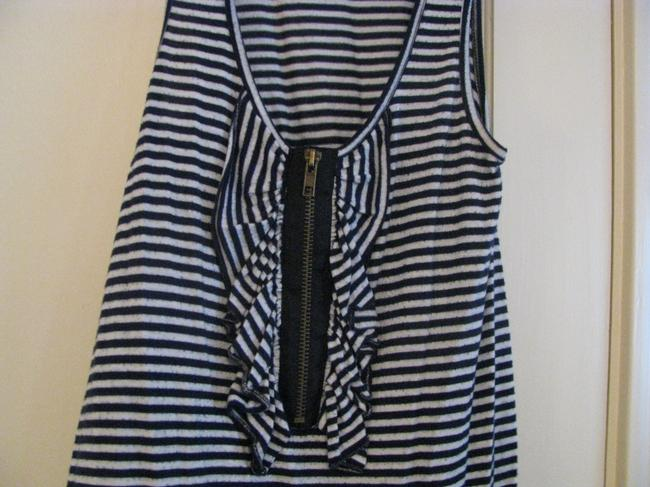 Living Doll Top White and Navy Blue