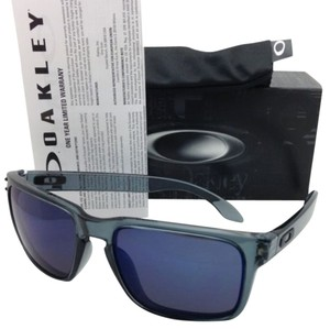 Oakley New Oakley Sunglasses HOLBROOK OO9102-47 Crystal Black Frame w/ ICE Iridium Lenses