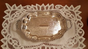Vintage Canterbury Silver Plate Petite Dish Tray With Handles