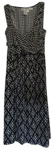 Max Studio short dress Black Polka Dot Print And White Like New Sun on Tradesy