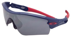 Oakley New OAKLEY Sunglasses RADAR PATH MLB 09-782 ATLANTA BRAVES Navy Blue Red Frame