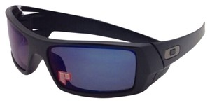 Oakley New OAKLEY POLARIZED Sunglasses GASCAN OO 26-244 Matte Black Frame w/Ice Iridium Lenses