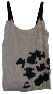 Anthropologie Top Off white and Black