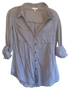 Joie Button Down Shirt Navy