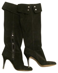 Nine West Suede Studded Black Boots