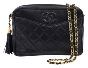 Chanel Vintage Tassel Camera Lambskin Gold Hardware Cross Body Bag