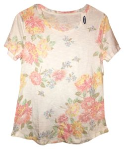 Old Navy Floral T Shirt White