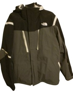 The North Face Gray black and white Jacket