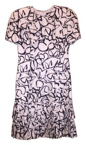Carolina Herrera short dress Cream and Black Print on Tradesy