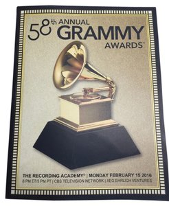 2016 Grammy Awards Commemorative Program Volume [ Roxanne Anjou Closet ]