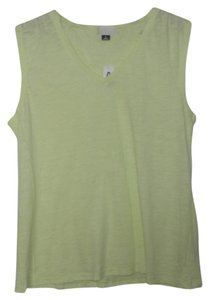 Old Navy Sleeveless V-neck Tee Top Lime Green