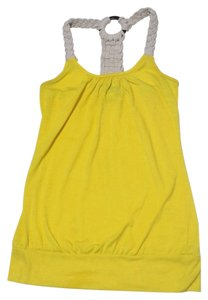 Taboo Rope Beach Summer Racer-back Banded Top Yellow