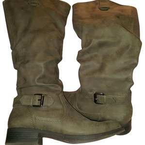 Mossimo Supply Co. Faux Leather Suede tan Boots