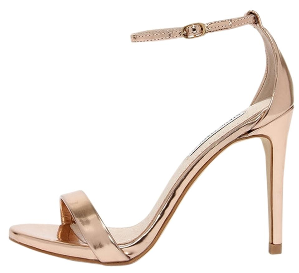 b7033f39b4f Steve Madden Stecy Stecy Wedding Brides Mate Mother Of The Bride Wedding  Rose Gold Sandals Image