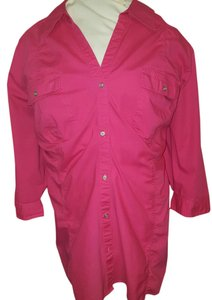 Lane Bryant Plus-size Top pink